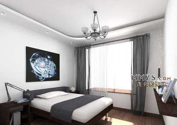 黑白手绘客厅室内设计图