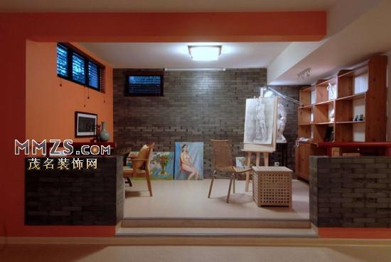 欧式别墅客厅展示台