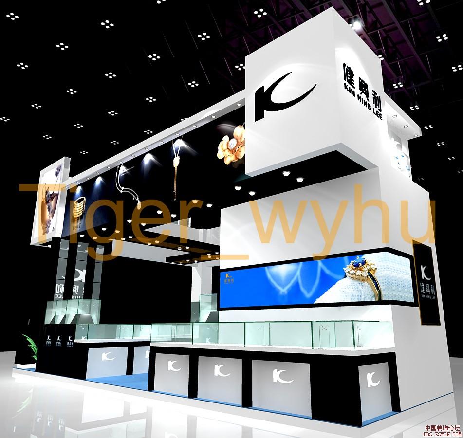 健典利展台设计效果图欣赏 - 中国展览设计网|国外||.