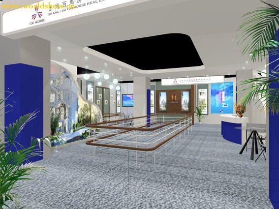 上海公司展台展示设计效果图欣赏