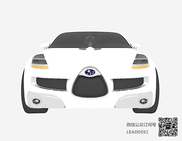 白色小车3d模型